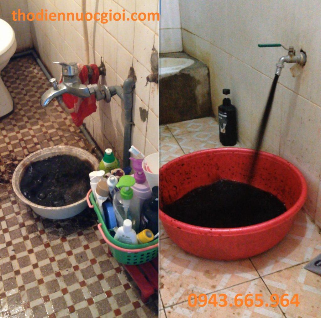Kết quả vệ sinh đường ống nước
