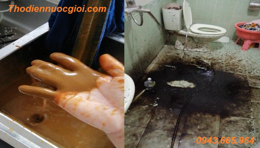 Sục rửa đường ống nước chung cư Thủy Lợi